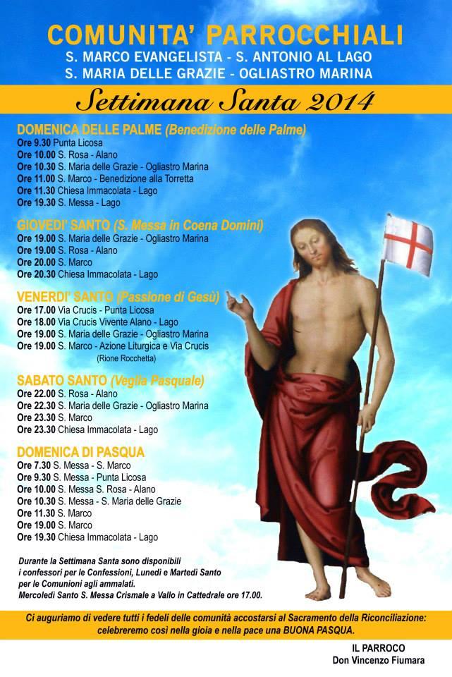 programmi pasquali 2014