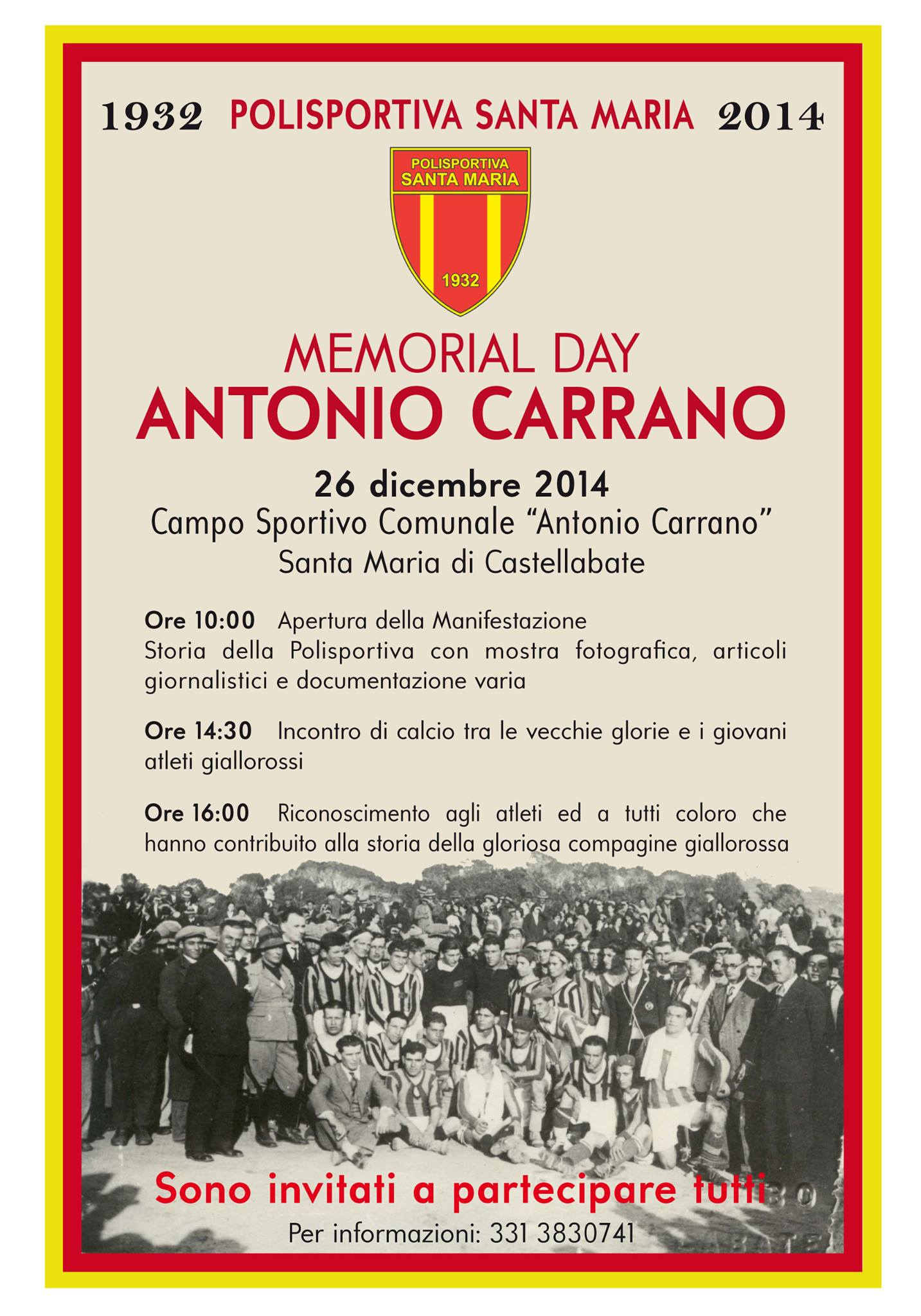 Memorial day antonio carrano