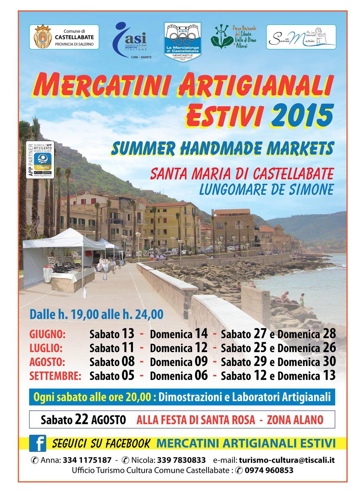 mercatini artigianali estivi 2015
