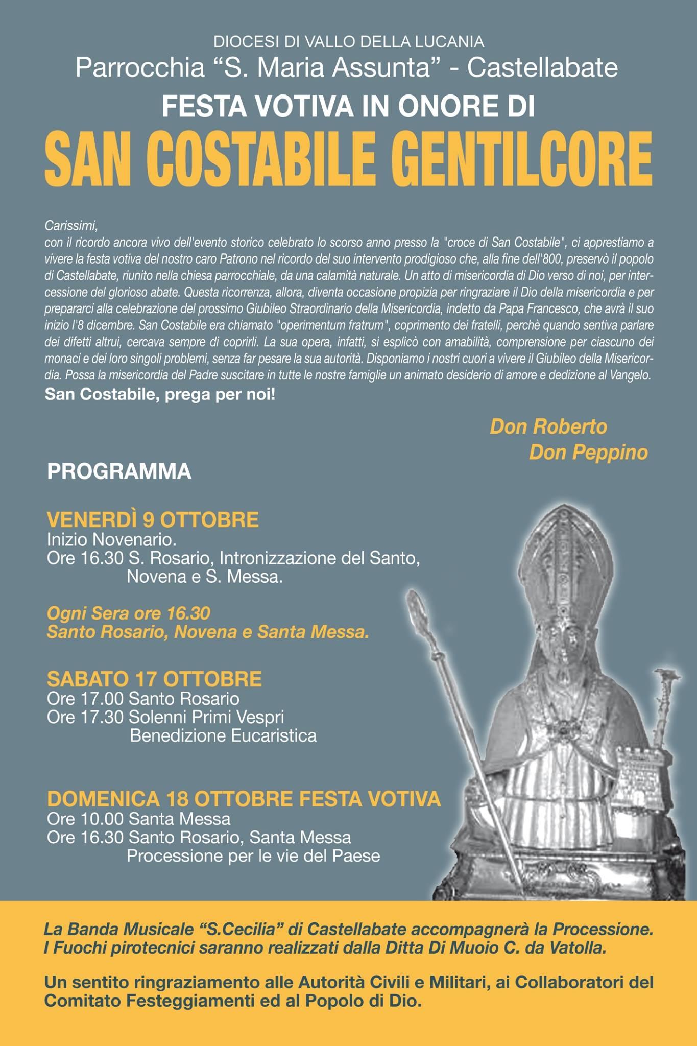 Castellabate Festa votiva di San Costabile Gentilcore 2015