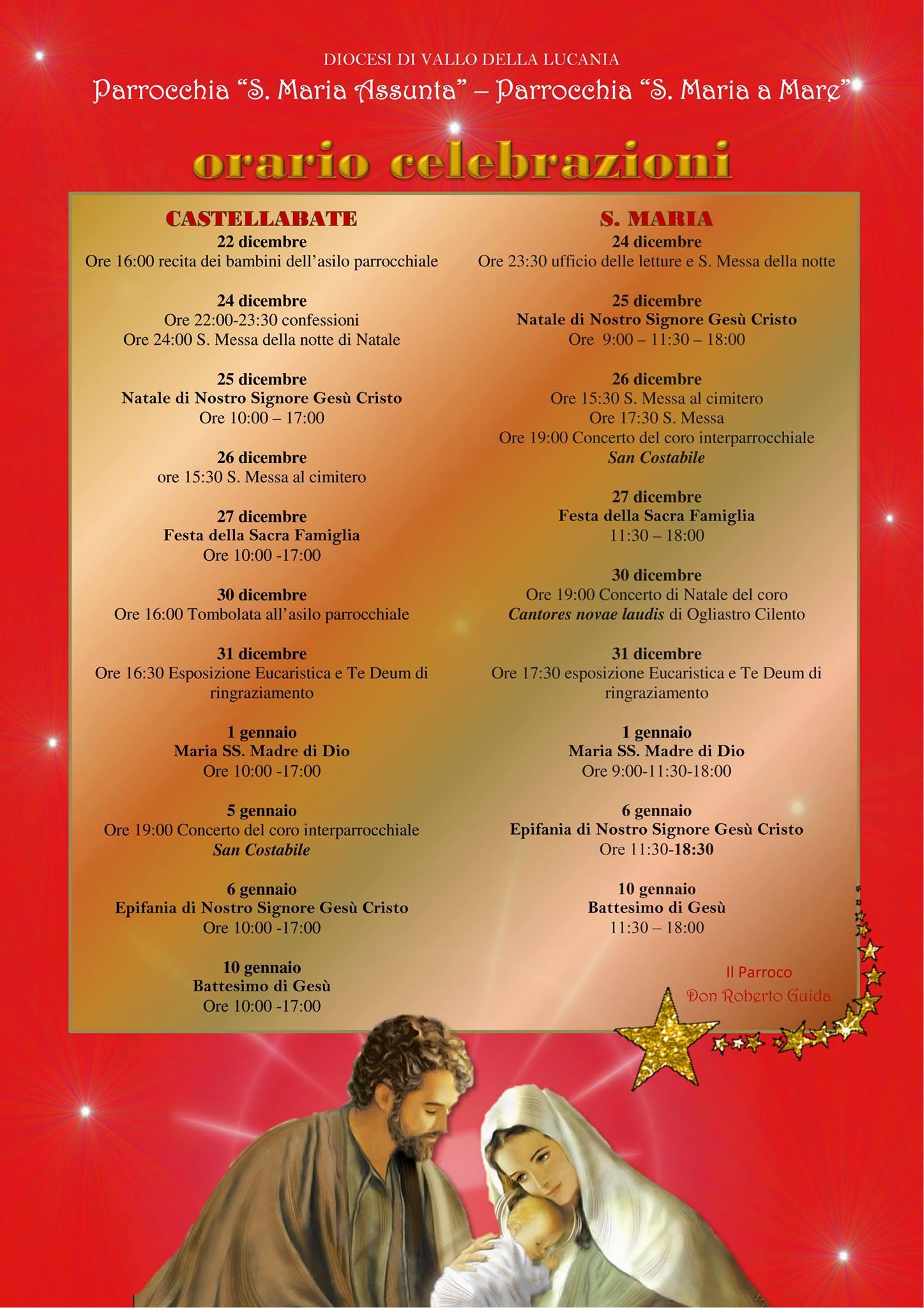 Celebrazioni Natale 2015 (Parrocchie di Castellabate e Santa Maria)