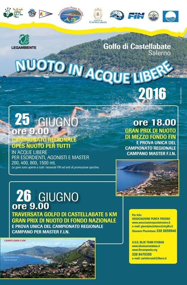 Castellabate nuoto in acque libere 2016