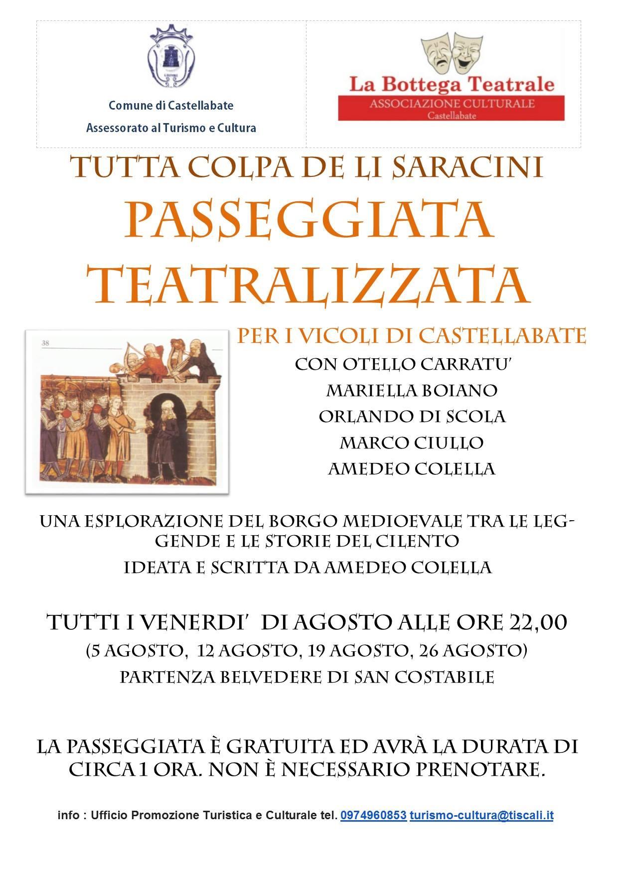 Castellabate passeggiata teatralizzata Tutta colpa de li Saracini