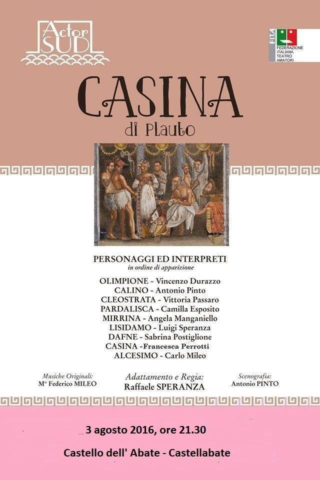 Castellabate spettacolo teatrale Casina (actor sud)