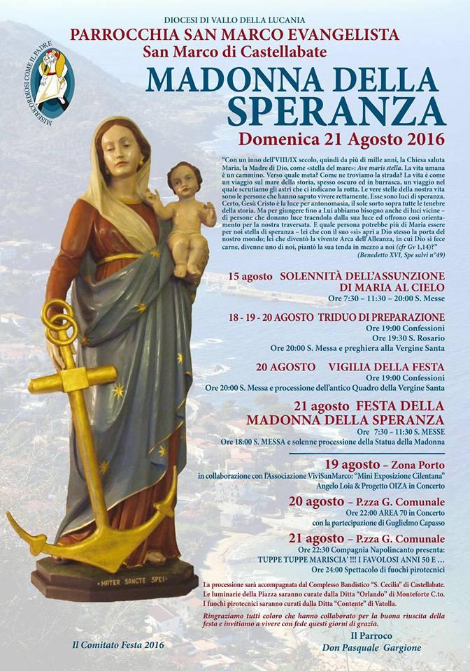 San Marco di Castellabate Festa Madonna della Speranza 2016