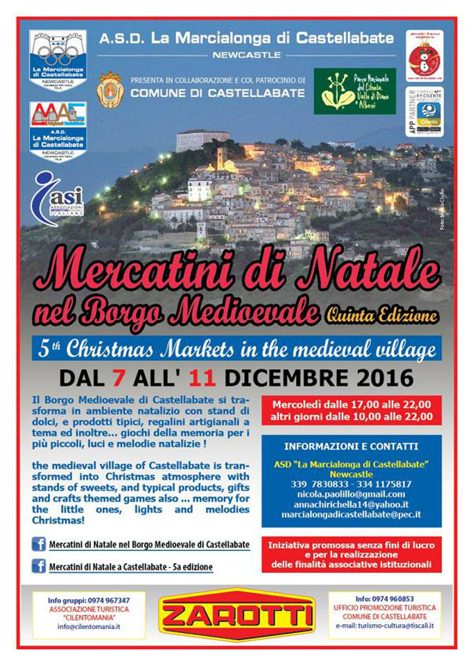 Castellabate Mercatini di Natale nel Borgo Medievale 2016