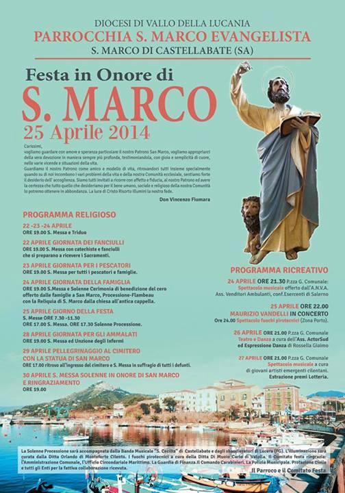 Festa San Marco Evangelista 2014, San Marco di Castellabate