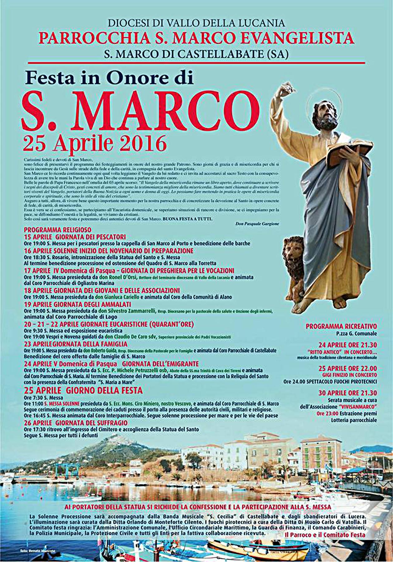 Festa San Marco Evangelista Castellabate 2016