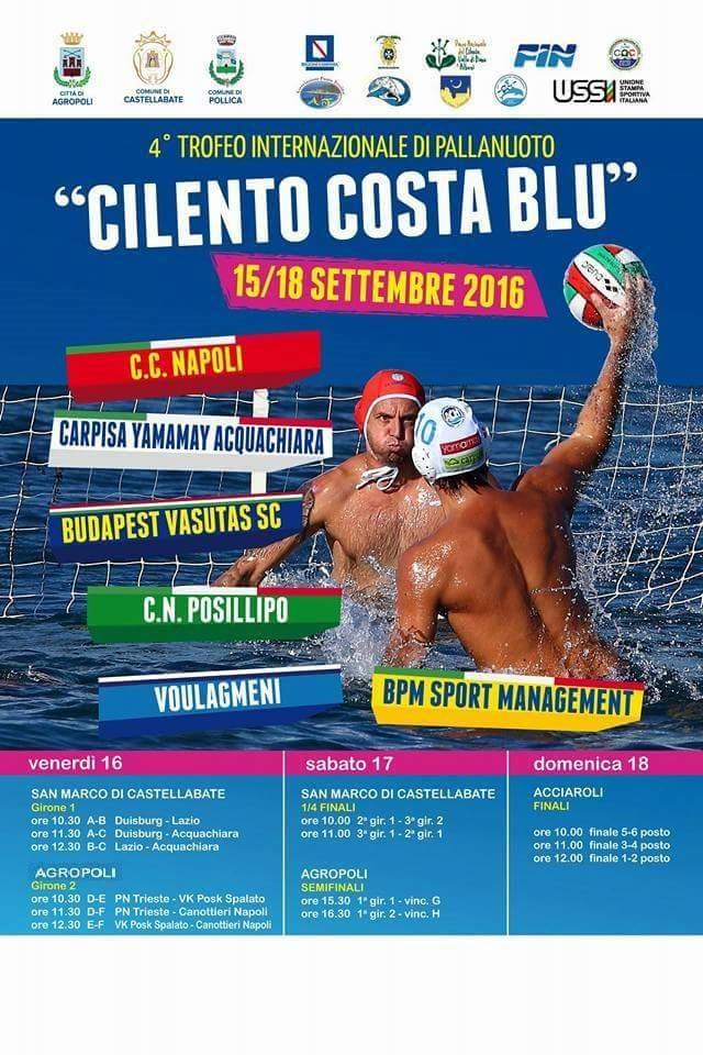 Torneo internazionale di pallanuoto Cilento Costa Blu 2016