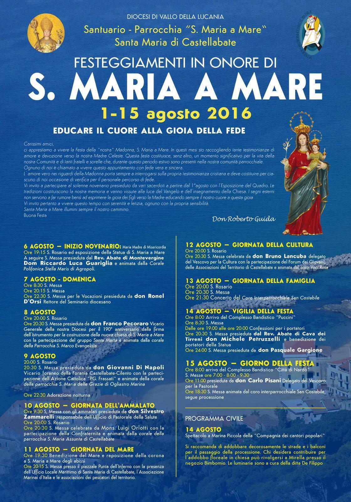 festa santa maria a mare 2016 castellabate